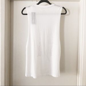 adidas Tops - adidas | white 'climalite graphic muscle tee NWT